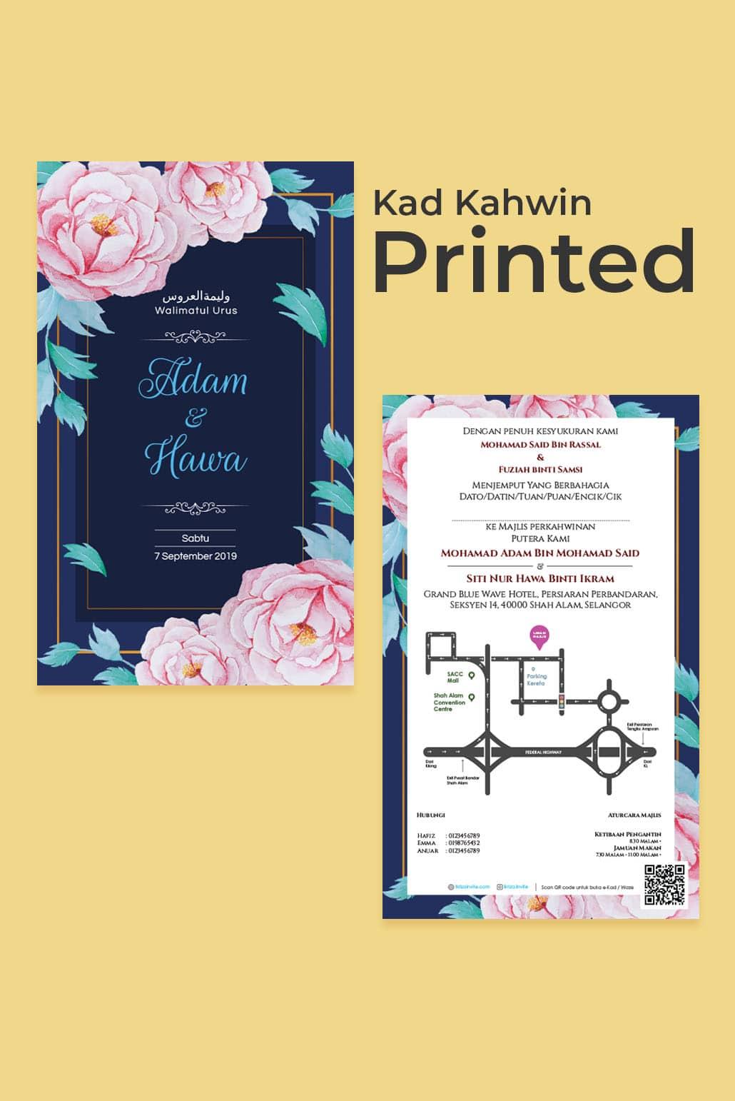 Kad Kahwin Printed